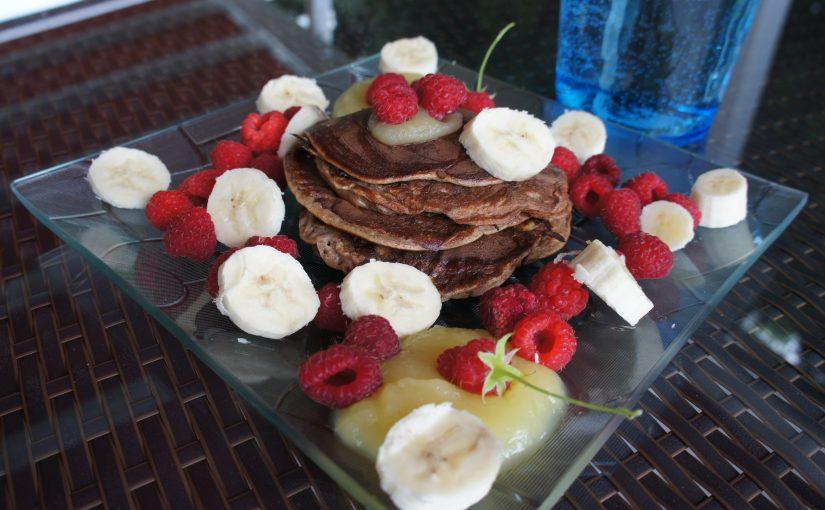 Schoko-Bananen Protein Pancakes